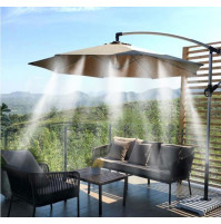 Sprinkler - water spray system for garden umbrella, spray gun for cooling, watering plants and lawn MistyMate