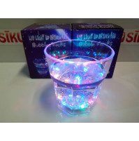Flashing LED glass for parties and holidays