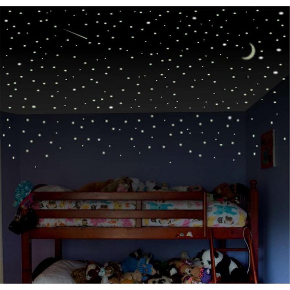 Jauna dizaina stilīgas bērnu istabas sienas uzlīmes - krāsainas zvaigznes