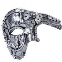 CLASSICAL 3D STEAMPUNK CARNIVAL ONE EYE HALF MASK