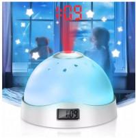 Planetarium alarm clock Mini LED Night alarm with time projector