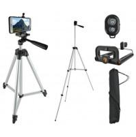 Adjustable tripod holder for smartphone, camera, camcorder 45 - 133 cm