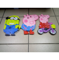 The developing children's puzzle Peppa Pig or Minion