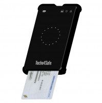Tachograph card reader and RS CARD truck driver card with SIM card slot - Tacho4Safe