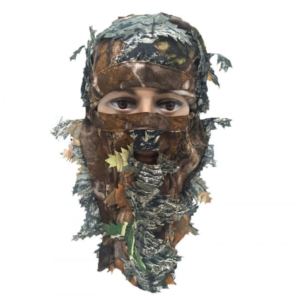 Leaf camouflage mask for hunters
