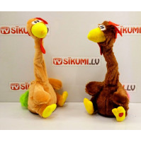 Interactive toy dancing and singing chicken