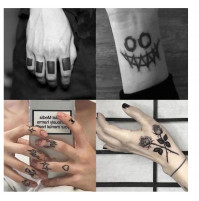 Temporary washable tattoos for parties