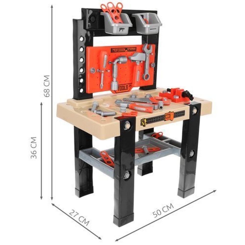 Playset for boys - Workshop with workbench and tools