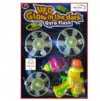 Glowing Frisbee Flying Saucer UFO Glow In The Dark Gyro Flash