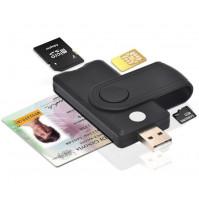 Universal eID, MicroSD, SD, TF, SIM card reader - Uthai 4 in 1
