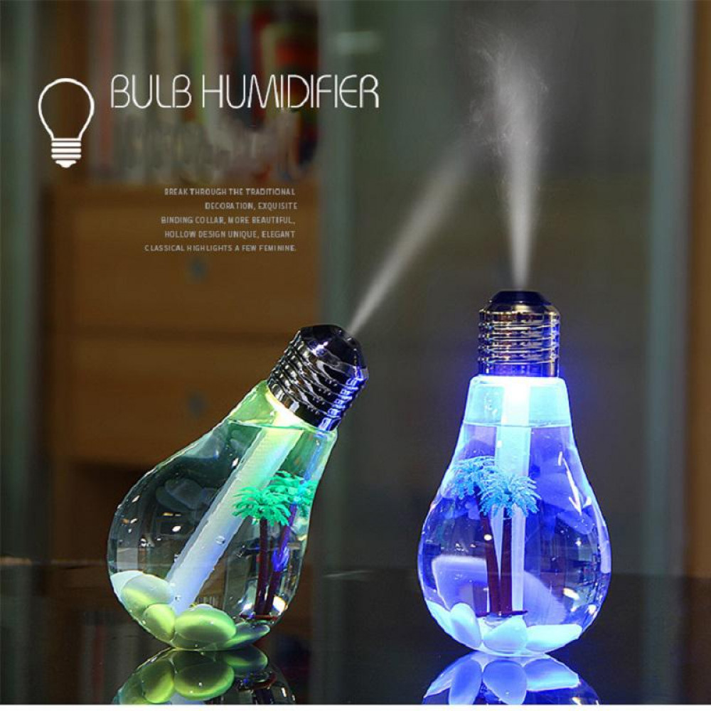 400ml LED Lamp Air Ultrasonic Humidifier bulb Mist Maker Essential Oil Diffuser Atomizer Air Freshener Mist Maker