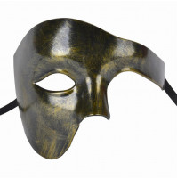 Classical Mardi Gras Venetian Carnival One Eye Half Mask