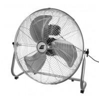 Large powerful industrial floor fan for indoor air circulation, cooling, ventilation, 140 Wt, up to 100 m2