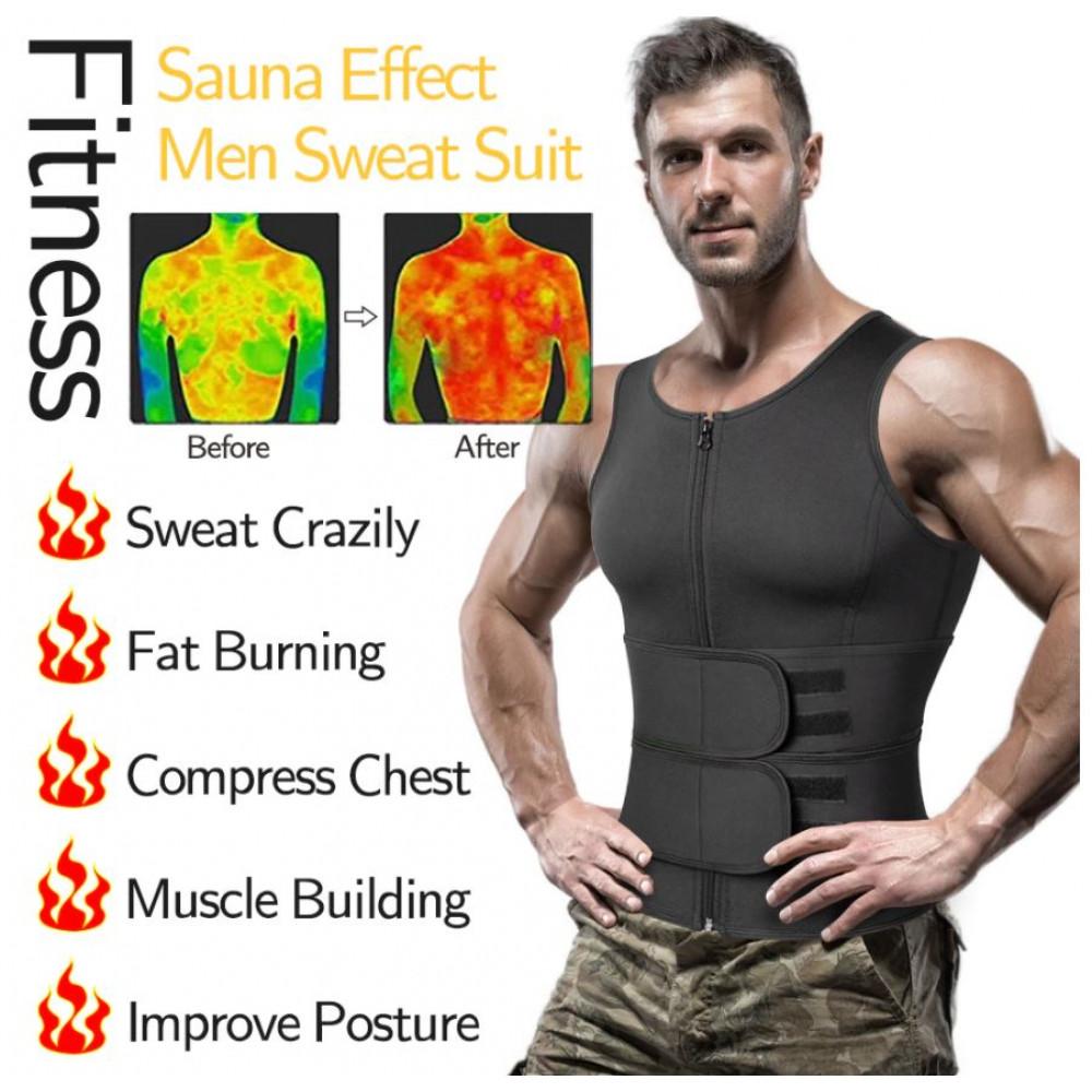 Mens Neoprene Adjustable Zip Velcro Corset For Sports Slimming Slimming Abdominal Loose Daily Wear