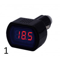 Car battery charge voltmeter