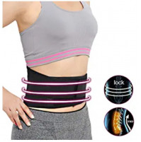 Neoprene warming support belt with magnets for the lower back, relieves pain, stimulates blood circulation