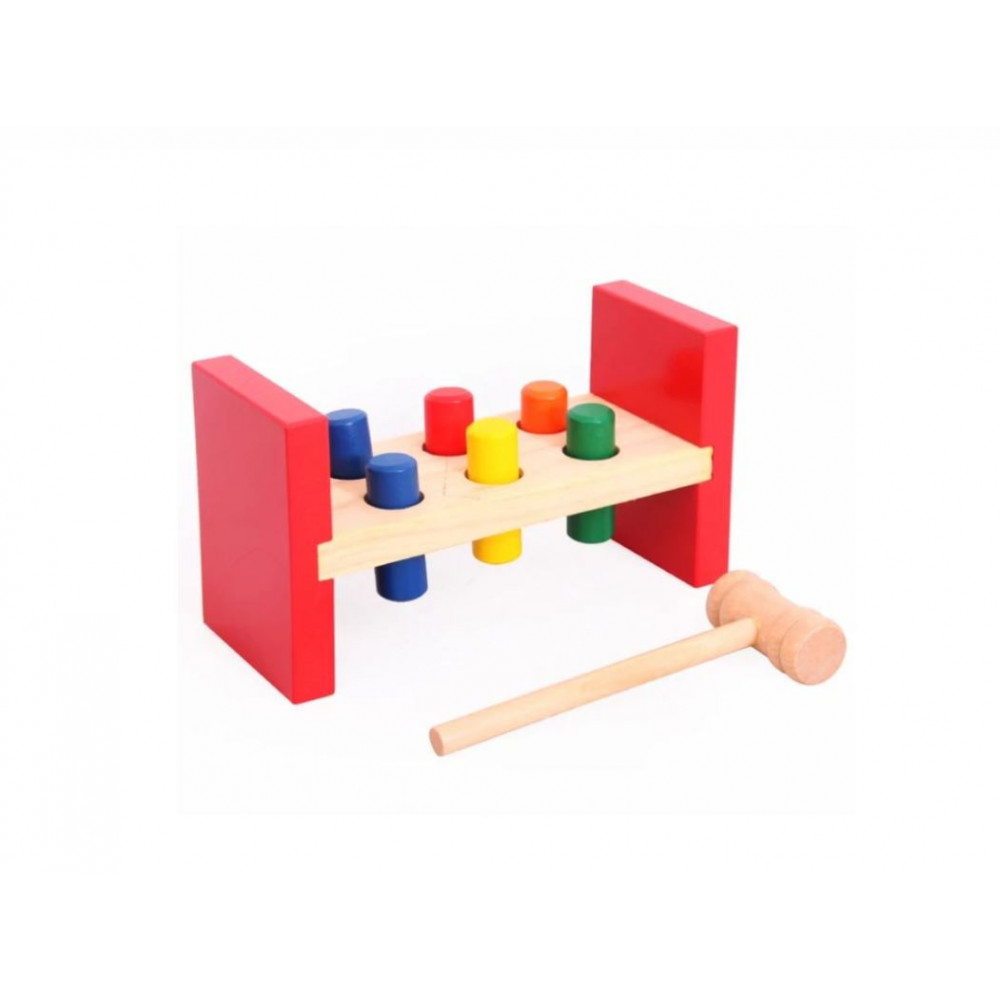 "Board educational game - hammer ""Hammer a piece of wood"", develops fine motor skills and reaction"