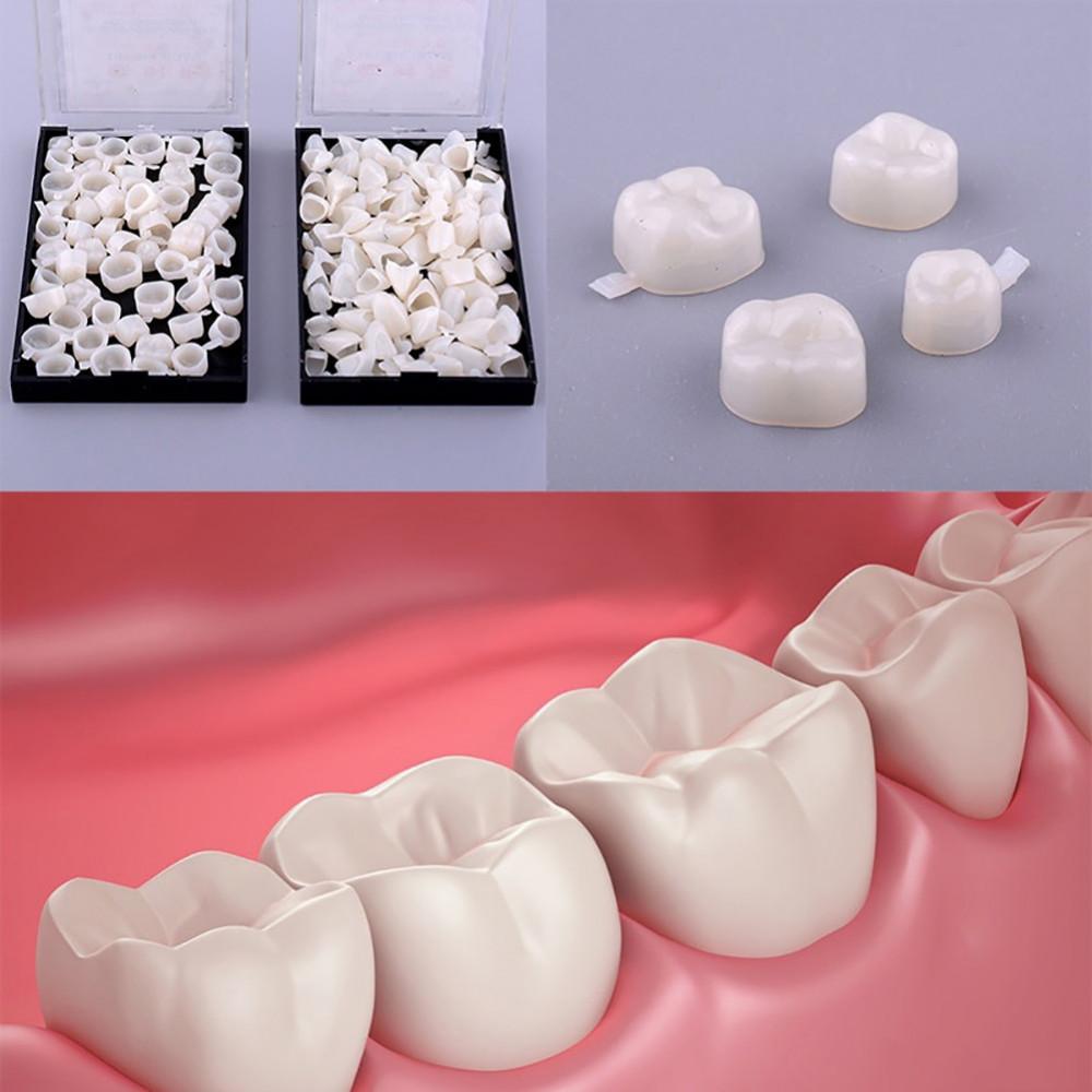 Pagaidu zobu kroņu komplekts (50 gab.)