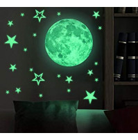 Room decor - glowing 3D stickers